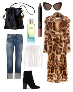 """""""Winter look 1"""" by thegoods2103 on Polyvore featuring Isabel Marant, Frame, Dries Van Noten, STELLA McCARTNEY, NARS Cosmetics and Hermès"""
