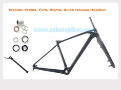 2016 ~ 2017 newest china carbon frame mountain bike 14.5/16/17.5/19 cheap carbon MTB frame with fork