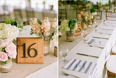 wood and metal number table cards | photo: staceyhedman.com