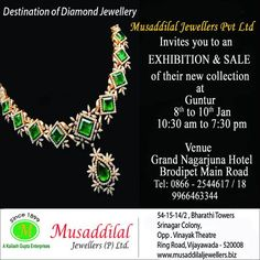 Untitled musaddilal jewellers pinterest musaddilal jewellers invites you to an exhibition sale of its new collection at guntur stopboris Gallery