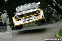 Fire up the Quattro! Mehr - Cars and motor Audi Quattro, Allroad Audi, Classic Race Cars, Flying Car, Audi Sport, Audi Cars, Rally Car, Vintage Racing, Amazing Cars