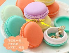 wedding decoration Macaroon Mini Jewelry Box Carry on portable Debris storage box Kit #5173 Z1