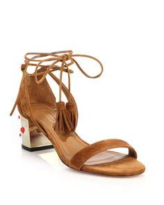 Aquazzura | Brown Cleopatra Sandals | Lyst Shoe Lyst...
