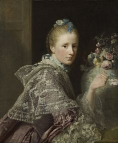 The Artist's Wife: Margaret Lindsay of Evelick, c 1726 - 1782 by Allan Ramsay.