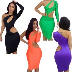Aliexpress.com : Buy Evening Dresses 4 Colors Plus Size S M L XL Single Long Sleeve Bandage Dress Clubwear Bodycon Sexy Women Party Free Shipping   from Reliable party dress 2013 suppliers on New World International  Co.,Ltd----Fashion Women $11.99