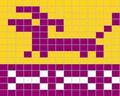 Ravelry: Dachshound Sock Chart pattern by Sandra Jäger Knitting Patterns For Dogs, Knitting Charts, Free Knitting, Knitting Ideas, Intarsia Knitting, Knitting Socks, Charts And Graphs, Free Charts, Fair Isle Pattern