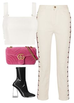 """""""Untitled #1508"""" by deamntr ❤ liked on Polyvore featuring Chloé, Zimmermann and Gucci"""