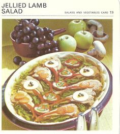 Jellied Lamb Salad from 25 Retro Recipes You Won't Believe People Actually Made Slideshow Scary Food, Gross Food, Weird Food, Bad Food, Retro Recipes, Old Recipes, Vintage Recipes, Vintage Food, Recipies