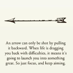 "Higher Perspective on Instagram: ""An arrow can only be shot by pulling it backward!"" Prayers Of Gratitude, Family Wall, Dear Future, Sweet Words, Positive Thoughts, Law Of Attraction, Dream Big, Best Quotes, Leadership"