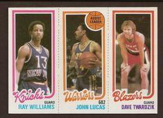 #NBA 1980-81 #Topps #basketball card #065 173 Ray Williams / 94 John Lucas TL / 202 Dave Twardzik