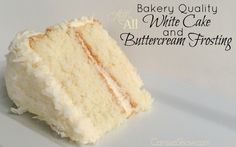 Making a Bakery Quality White Cake with Buttercream Frosting Bakery Quality White Cake Recipe, Easy White Cake Recipe, Recipe Adjustments, Cupcake Recipes, Frosting Recipes, Cupcake Cakes, Dessert Recipes, Food Cakes, Dessert Ideas