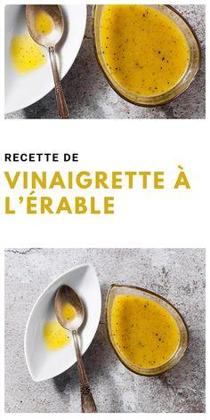 Vinaigrette a Lerable Maple Vinaigrette, Vinaigrette Dressing, Salad Dressing Recipes, Salad Recipes, Batch Cooking, Healthy Cooking, Healthy Drinks, Healthy Recipes, Marinade Sauce