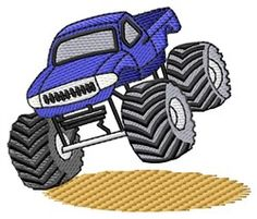 Grand Slam Designs Free Embroidery Design: Monster Truck 2.74 inches H x 3.24 inches W