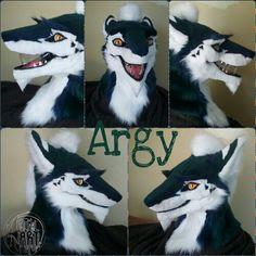 Argy the sergal Fursuit Head, Fursuit Tutorial, Anthro Furry, Creature Design, Furry Art, Character Concept, Cosplay Costumes, Cute Animals, Mascaras