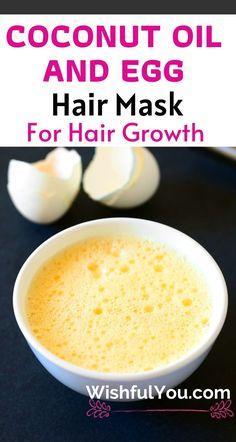 Coconut Hair Mask, Egg Hair Mask, Egg For Hair, Coconut Oil Hair Growth, Hair Mask For Damaged Hair, Hair Masks, Dry Hair, Coconut Oil For Hair, Onion Hair Mask