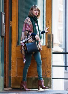 Taylor Swift was bundled up in NYC on Friday.