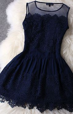 Dark blue lace dress. Perfect for ur eyes!