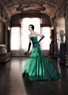 Edie Campbell in Christian Dior Haute Couture