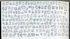 Awesome line drawings - simple idea