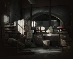 Abandoned Office Update 3 | Software Used: Maya, Substance Painter, Substance Designer, Photoshop, Unreal Engine 4 | By Ernesto Becerra | https://www.artstation.com/artist/theerniebecerra