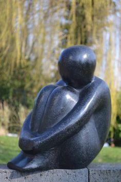 'Muze' Terrazzo Beeld 40 cm