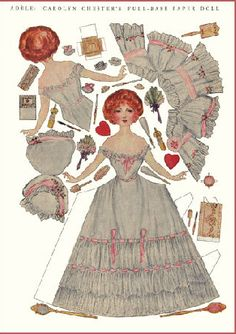 Adele (1 of 3) - A lovely paper doll from The Delineator magazine from 1912. Sheets are quite big since magazines used to be bigger, 10 and half inches by 15 inches. The wrap around feature is a nice touch and adds a 3D element.