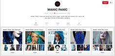 Manic Panic is een merk dat gespecialiseerd is in haarkleuren. Zoek de zotste kleur en ze hebben het. Een kleur in een doosje zegt niet veel, daarom hebben ze een pinterestaccount met al de foto's van klanten die hun producten gebruikt hebben. Nothing as good as some freaky hair right? Beste reclame volgens mij die je kan maken met zo'n producten.  https://www.pinterest.com/ManicPanic/