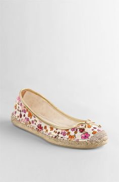 Coach Dorris Spring Floral espadrille Flats - my new shoes for Spring!