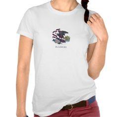Illinois Flag Nebula T-Shirt