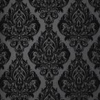 Graham & Brown 56 sq. ft. Saville Black Wallpaper-20-010 at The Home Depot