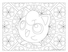 Adult Pokemon Coloring Page Jigglypuff