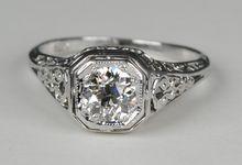 Edwardian Filigree .70 carat Diamond ring