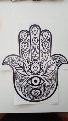 Vehicle Decal Mandala Hand by ComstockKreations on Etsy