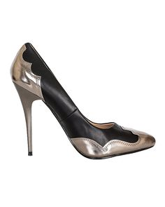 adf9c66723 Metallic Leather, Stiletto Heels, Pumps, Stuff To Buy, Black, Shoes,  Shopping, Fashion, Choux Pastry