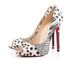 Zapatos peep toe de lunares by Louboutin, 2013