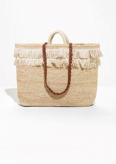 & Other Stories | Fringe Straw Basket Bag
