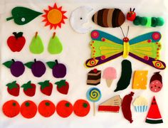 The Very Hungry Caterpillar Felt Set door FeltCreationsByEster