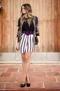 Black and White Skirt - Thassia Naves