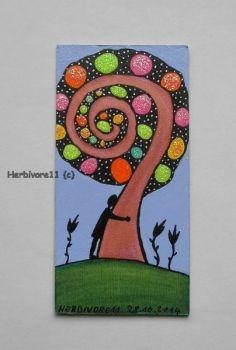 Tiere und Kunst von Herbivore11 - Funkelbäumchen Nr. 10