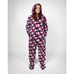 Footie Pajamas, PJs & Sleepwear at Spencer's found on Polyvore