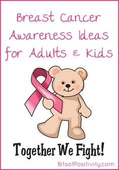 Ideas and resources for getting both adults and kids involved in Breast Cancer Awareness Month