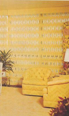 Vintage Home Decor, 1970s Home Decor, Curtains, Drapes, Blinds