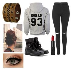 """""""Untitled #1526"""" by beau-4-ever ❤ liked on Polyvore featuring moda, Nemesis, Topshop, Converse i NARS Cosmetics"""