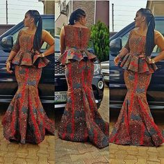 Stunning Peplum Ankara Skirt and Blouse Styles for You.Stunning Peplum Ankara Skirt and Blouse Styles for You Latest African Fashion Dresses, African Print Dresses, African Print Fashion, African Dress, Ankara Fashion, African Prints, Nigerian Fashion, Ghanaian Fashion, African Clothes