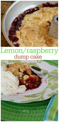 #dumpcake #lemon #raspberry