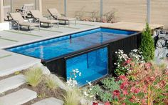 Pool mit Containern gebautContainer haus | Container haus