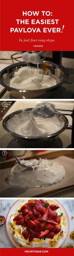 How to make the easiest pavlova EVER!