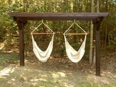 hammock chair pergola - Google Search