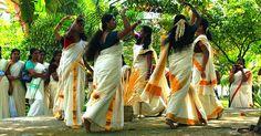 Kaikottikali danced during onam festival