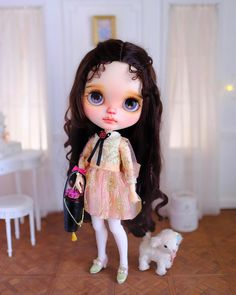 """#ranrancustom #ransilentnight #blythecustom #blythe """"Béatrice""""is ready to find a new home! She will be up for adoption in China by taobao auction."""